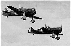 Aircraft Picture - Fokker D.XXI aircraft in the Finnish air force during World War II