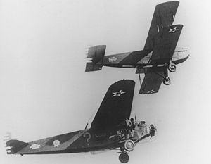 Aircraft Picture - The Question Mark (bottom) being refueled by a Douglas C-1 (top)