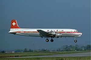 Aircraft Picture - Douglas DC-6B of Swiss airline Balair in 1976