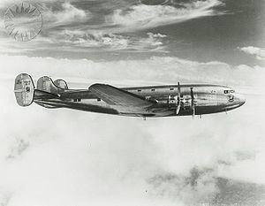 Aircraft Picture - The Douglas DC-4E in flight