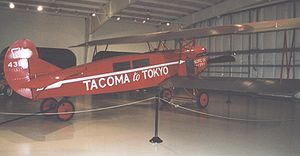Aircraft Picture - Fokker C.IVA modified with cabin for passengers for planned non-stop flight Tacoma-Tokyo. Preserved airworthy in Owls Head Museum, Maine