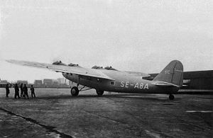 Aircraft Picture - Swedish Fokker F.XXII