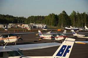 Aircraft Picture - General aircraft at Helsinki-Malmi Airport airport, Finland.
