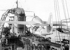 Aircraft Picture - Be-4 on the Soviet cruiser Molotov, 1941.