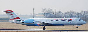 Aircraft Picture - Austrian Arrows Fokker 100 (F-28-0100)