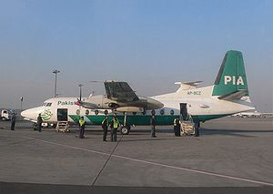 Aircraft Picture - A PIA F27 at Allama Iqbal International Airport, Lahore in January, 2006