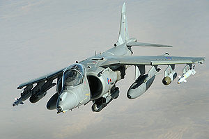Aircraft Picture - An RAF Harrier GR9 over Afghanistan, 2008