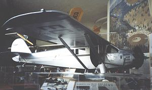 Aircraft Picture - Ryan B-5 Brougham NC9236 displayed in the San Diego Aerospace Museum in 1990