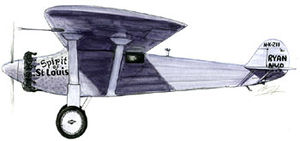 Aircraft Picture - Illustration of the Spirit of St. Louis
