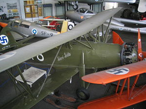 Aircraft Picture - VL Tuisku at the air museum at the Helsinki-Vantaa airfield.