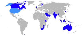 Aircraft Picture - Current operators of the Hawk are shown in dark blue, former operators in red and operators of the T-45 Goshawk in light blue.