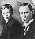 Aviation History - Charles A. Lindbergh: son and father c. 1910