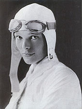 Aviation History - Studio portrait of Amelia Earhart, c. 1932. Putnam specifically instructed Earhart to disguise a