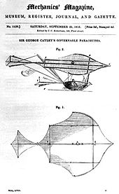 Airplane Picture - Sir George Cayley's governable parachute
