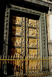 Leonardo da Vinci - Ghiberti's Gates of Paradise, (1425-1452) were a source of communal pride. Many artists assisted in their creation.