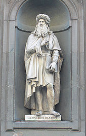 Leonardo da Vinci - Statue of Leonardo da Vinci at the Uffizi, Florence