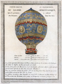 Airplane Picture - A 1786 depiction of the Montgolfier brothers' balloon.