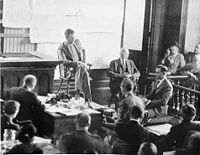 Aviation History - Lindbergh testifies at the Hauptmann trial in 1935