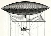 Aviation History - Henri Giffard - The navigable balloon created by Giffard in 1852