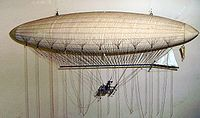 Aviation History - Henri Giffard - A model of the Giffard Airship at the London Science Museum.