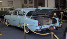 Airplane Picture - Hughes equipped this 1954 Chrysler New Yorker with an aircraft-grade air filtration system which took up the entire trunk