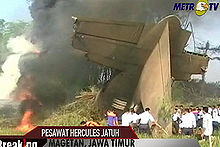 Aviation History - The Indonesian Air Force Hercules crash