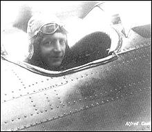 Aviation History - Alfred Comte - Comte piloting a Comte AC-2 aircraft (~1926)