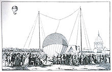 Aviation History - Jean-Francois Pilatre de Rozier - The first tethered balloon ascent on 15 October 1783 by Rozier.