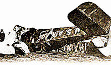 Aviation History - Wreck of Lindbergh's DH4 which crashed near Covell, IL, on November 3, 1926