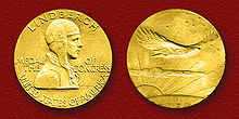 Aviation History - The Congressional Gold Medal authorized by the Congress on May 4, 1928, and presented on August 15, 1930 to Col. C.A. Lindbergh by President Calvin Coolidge at The White House, Washington, D.C.