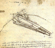 Leonardo da Vinci - A design for a flying machine, (c. 1488) Institut de France, Paris