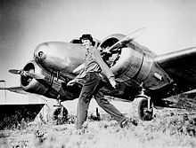 Aviation History - Amelia Earhart and Lockheed Electra 10E NR 16020, c. 1937