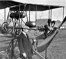 Aviation History - Emile Tadd�oli and his Dufaux 4, 1910