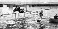 Aviation History - La Mouette seaplane on Lake Geneva in March 1912