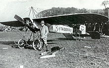 Aviation History - Emile Tadd�oli and his Morane monoplane