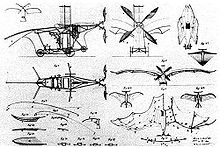 Airplane Picture - Patent drawings of Cl�ment Ader Eole