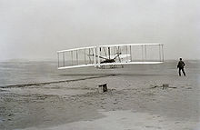 Airplane Picture - The Wright Flyer: the first sustained flight with a powered, controlled aircraft.