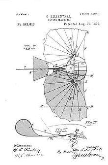 Aviation History - US-patent: Lilienthal flying machine[1]