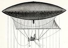 Airplane Picture - The navigable balloon created by Giffard in 1852
