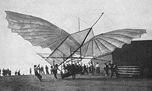 Aviation History - Gustave Whitehead - Whitehead's large Albatros-type glider - ca. 1905 - 1906