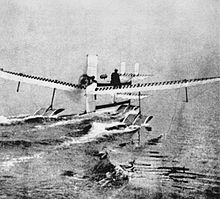 Aviation History - Henri Fabre on Hydroplane, 28 March 1910.