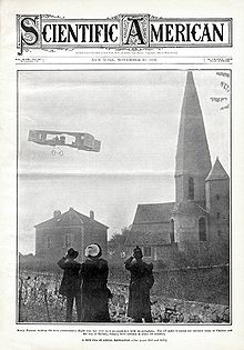 Aviation History - Henri Farman - Farman making the first cross-country flight accomplished with an aeroplane