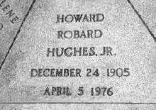 Airplane Picture - Howard Hughes's gravestone