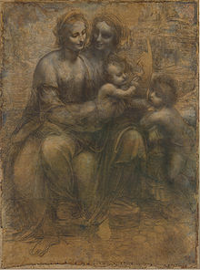 Leonardo da Vinci - The Virgin and Child with St. Anne and St. John the Baptist (c. 1499-1500)-National Gallery, London