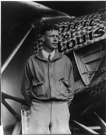 Aviation History - Charles Lindbergh with the Spirit of St. Louis - 1927