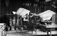 Aviation History - Samuel Pierpont Langley - Langley's 1/4-scale model; it flew several hundred yards on August 8, 1903.