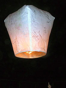 Aviation History - Hot Air Balloon - A Kongming lantern, the oldest type of hot air balloon.