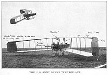 Airplane Picture - A Dunne-style biplane in the US Army, c. 1917