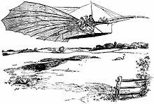 Airplane Picture - Gustave Whitehead's aircraft was represented in a sketch in the Bridgeport Herald.