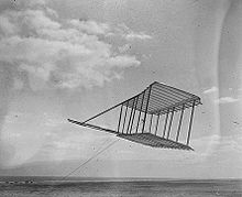 Aviation History - The Wright Brothers - The 1900 glider. No photo was taken with a pilot aboard.